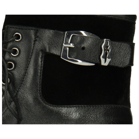 Ankle boots Susan 66 Nappa Black Velluto Sword Buckle