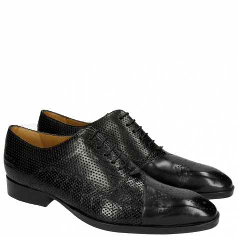 Oxford shoes Ricky 9 Crock Perfo Black LS Black