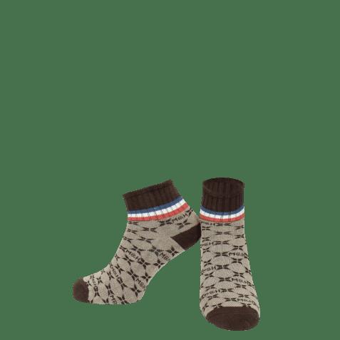 Socks Lorie 1 Ankle Socks Beige Brown