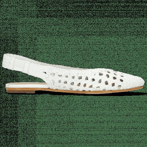 Ballet Pumps Alexa 13 Open Woven White