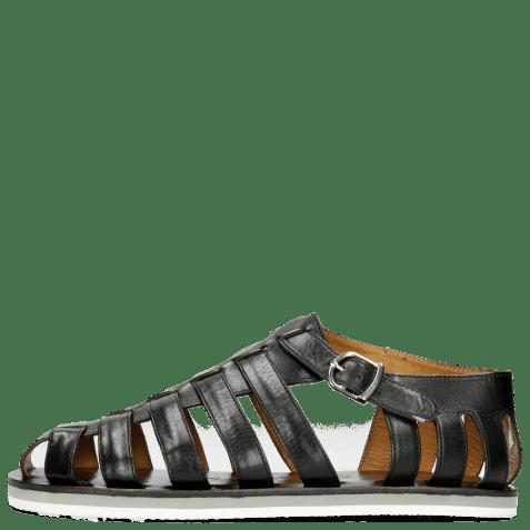 Sandals Sam 3 Black Modica White