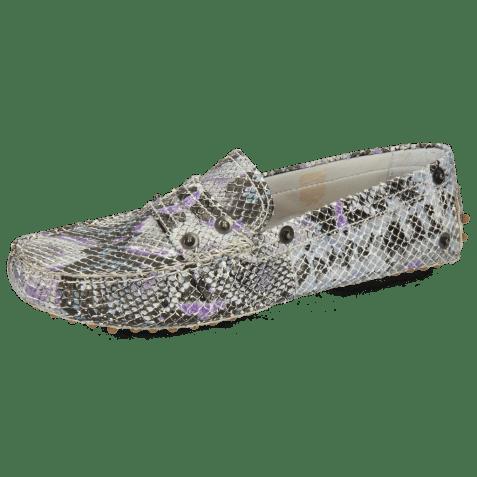 Loafers Caroline 1 Snake Multi Turquoise