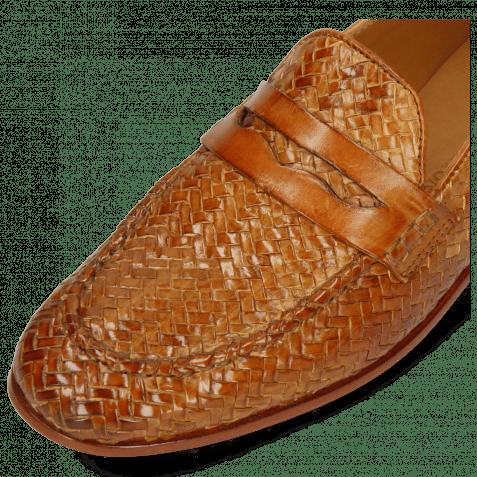 Loafers Scarlett 52 Vegas Haring Bone Weave Tan