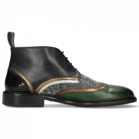 Ankle boots Sally 30 Pine Textile Oriental