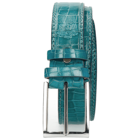 Belts Larry 1 Crock Turquoise Classic Buckle