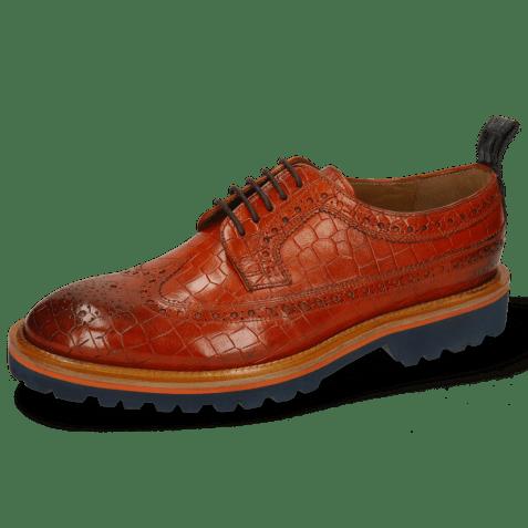Derby shoes Matthew 23 Crock Winter Orange