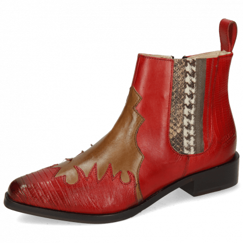 Ankle boots Marlin 46 Guanna Ruby Tortora Stripe Snake