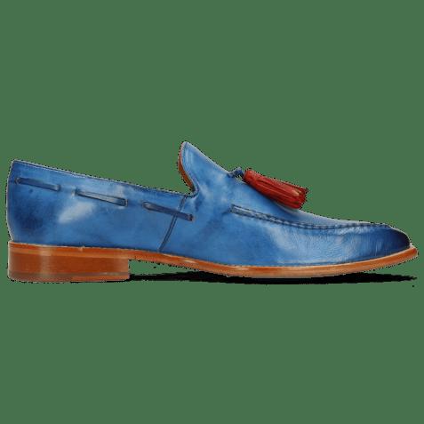 Loafers Leonardo 1 Imola Mid Blue Tassel Fiesta