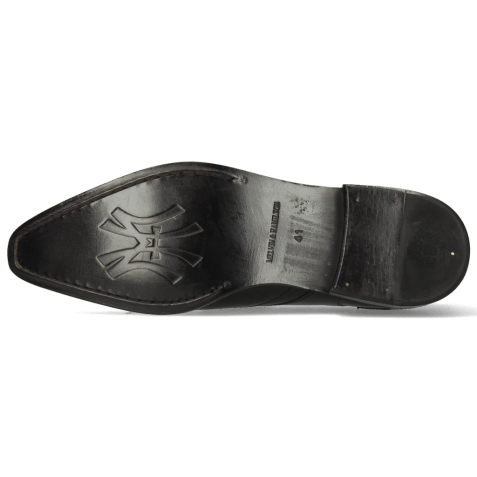 Derby shoes Elvis 63 Black Tassel Black