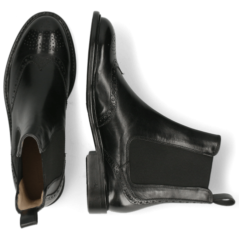 Ankle boots Sally 112 Black Elastic Black Lining
