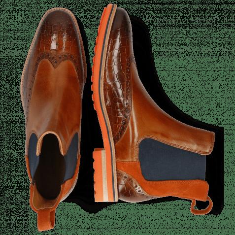 Ankle boots Tom 13 Crock Wood Suede Pattini Winter Orange