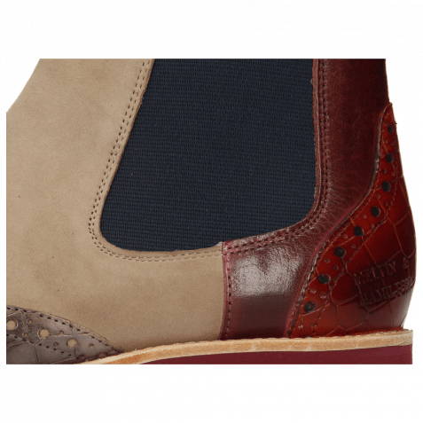 Ankle boots Selina 29 Crock Deep Steel Burgundy Suede Elephant