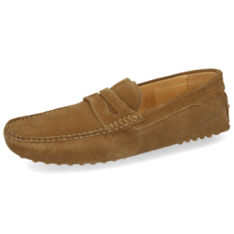 Loafers Nelson 2 Suede Pattini Tan