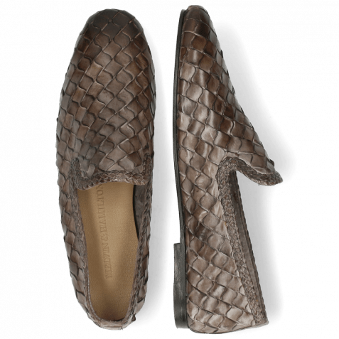 Loafers Mandy 1 Interlace Scale Weave Grey