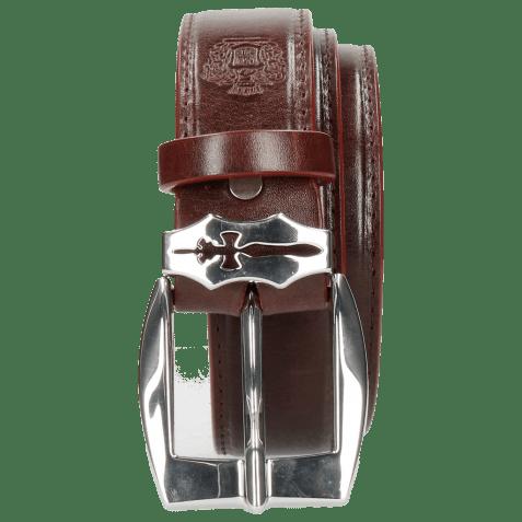 Belts Larry 1 Burgundy Sword Buckle