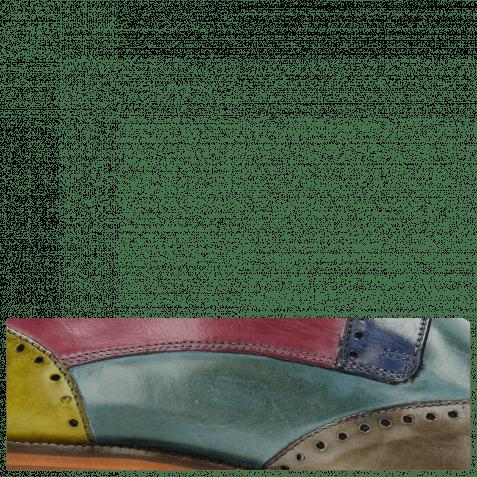 Derby shoes Jeff 14 Tan Cedro Arancio Bluette Rose
