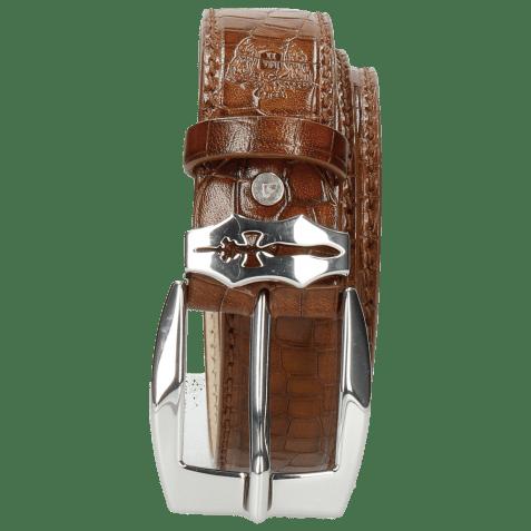 Belts Larry 1 Crock Mid Brown Sword Buckle