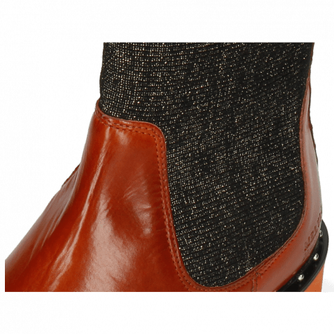 Ankle boots Susan 69 Orange Stefy Black Gold