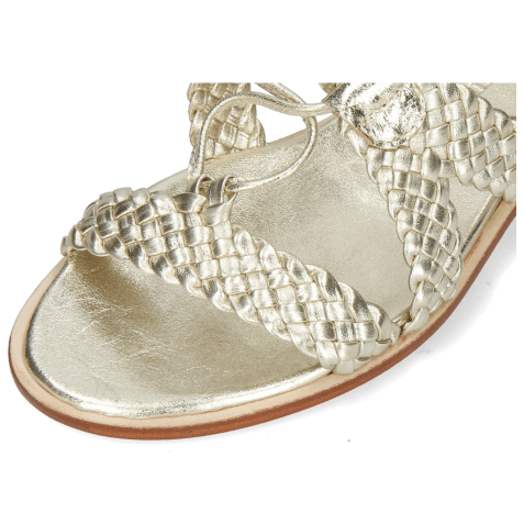 Sandals Sandra 11 Woven Nappa Platin Footbed