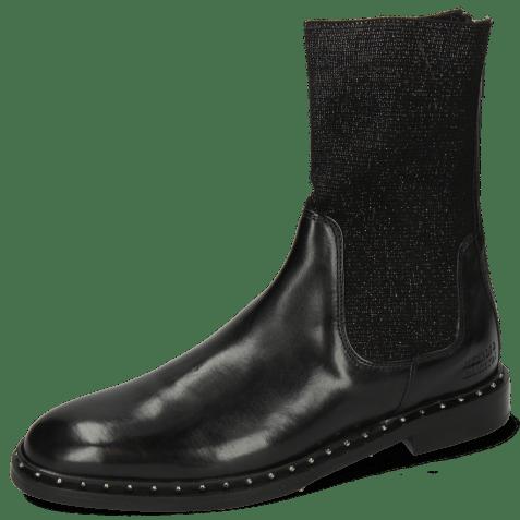 Ankle boots Susan 69 Black Stefy Black Silver