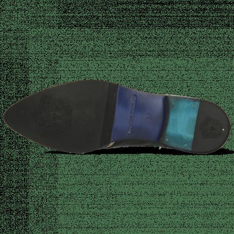 Oxford shoes Jessy 13 Crock Pine Nappa Aztek Gold Soft Patent Oriental Saphir Korela Green