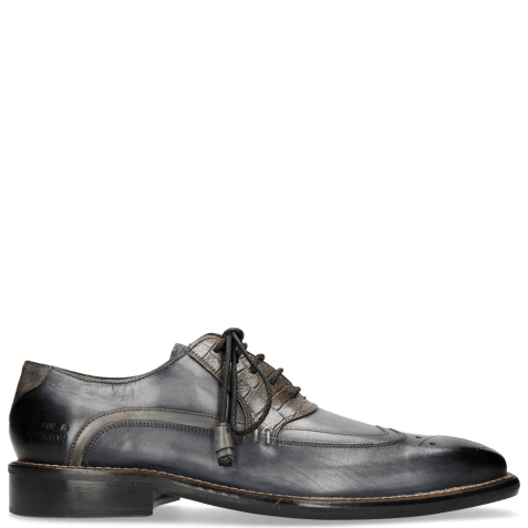 Oxford shoes Marvin 12 Navy Crock Grigio