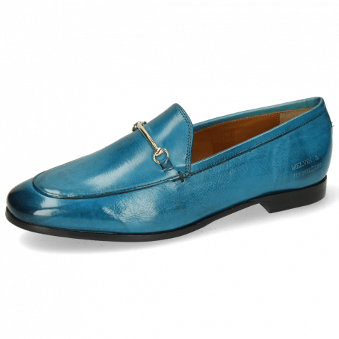 Loafers Scarlett 22 Pisa Turquoise Trim Gold