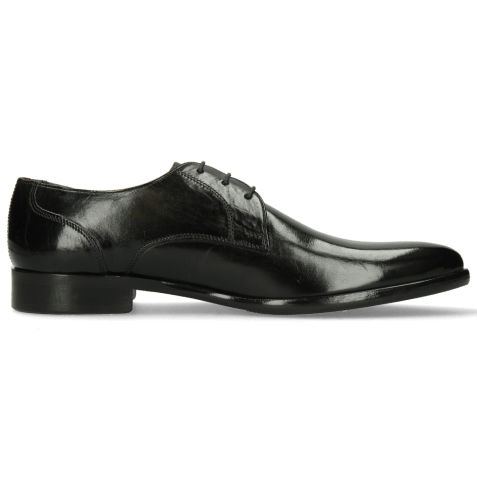 Derby shoes Toni 1 Black Lining Red HRS
