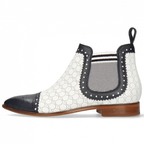 Ankle boots Jessy 55 Nappa Glove Deep Navy Perfo White