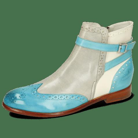 Ankle boots Selina 25 Vegas Turquoise Oxygen White Mermaid
