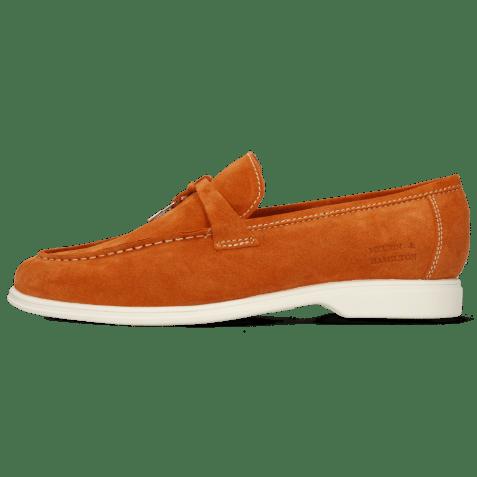 Loafers Earl 3  Suede Pattini Orange