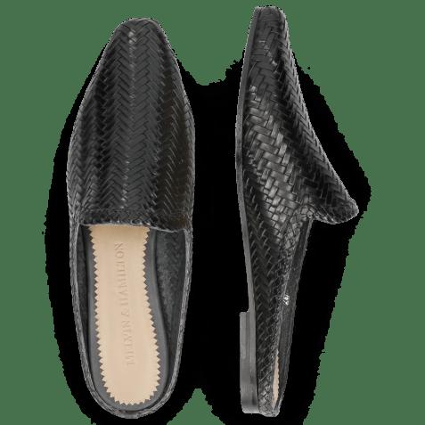 Mules Joolie 17 Woven Haring Bone Black