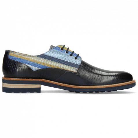 Derby shoes Henry 34 Guana Navy Washed
