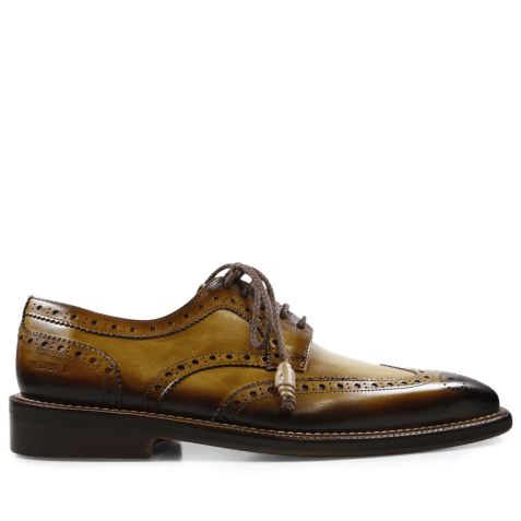 Derby shoes Marvin 1 Cedro Toe Shade Dark Brown LS Gold