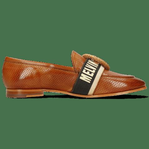 Loafers Scarlett 21 Vegas Perfo Tan Strap M&H