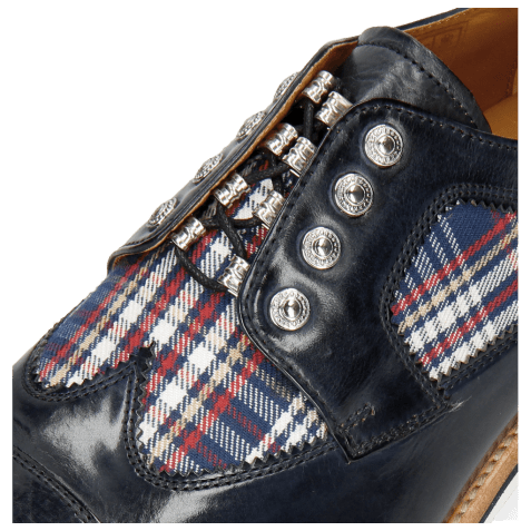 Derby shoes Tom 22 Navy Textile Check Multi