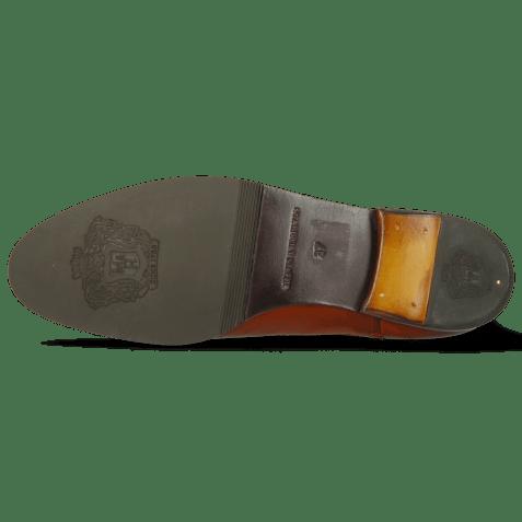 Ankle boots Susan 10 Winter Orange Elastic Dark Brown