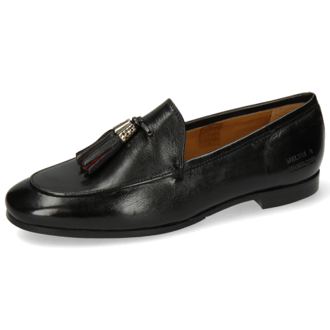 Loafers Scarlett 48 Pisa Black Accessory Gold Black Ruby