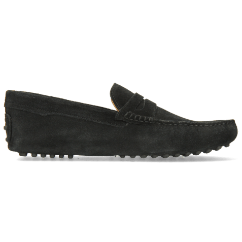 Loafers Nelson 2 Suede Pattini Black