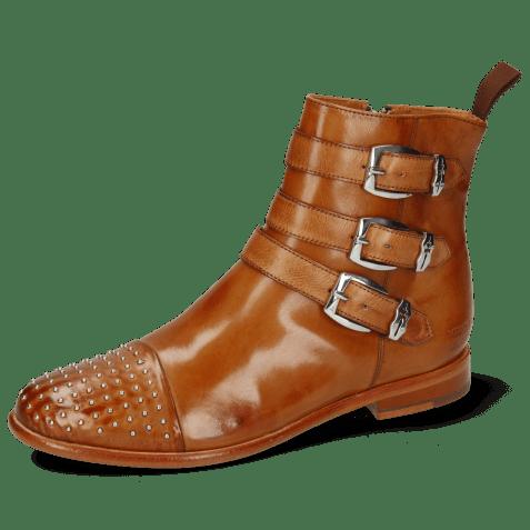 Ankle boots Selina 20 Pavia Tan Rivets Sword Buckle