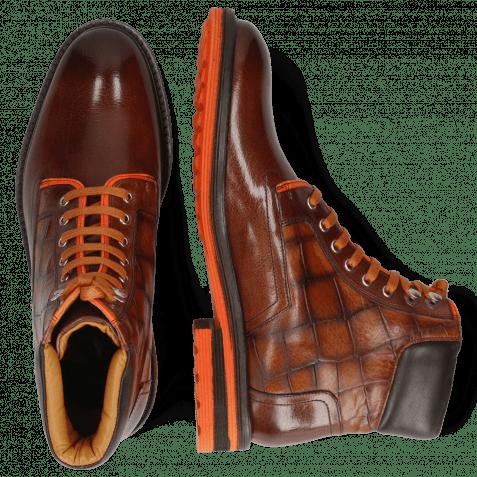 Ankle boots Trevor 35 Mogano Turtle Wood Fluo Orange