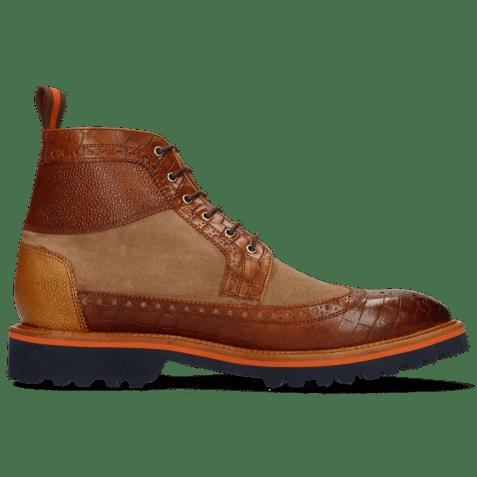 Ankle boots Matthew 9 Venice Crock Cognac Scotch Grain Sand