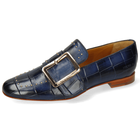 Loafers Luna 3 Imola Turtle Navy Rivets