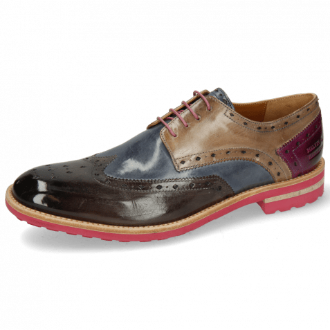 Derby shoes Eddy 5 Deep Steel Sky Blue Oxygen Eggplant