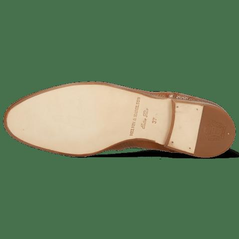 Ankle boots Susan 10 Imola Perfo Tan Elastic Lino