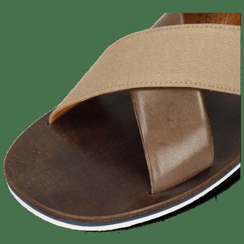 Mules Sam 5 Imola Chestnut Textile Indonesia Camel