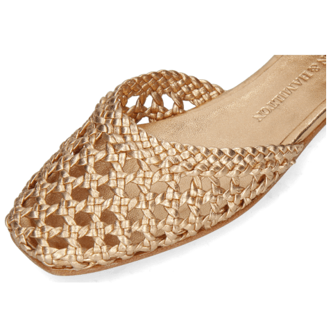 Sandals Melly 9 Open Woven Sheep Rose Gold