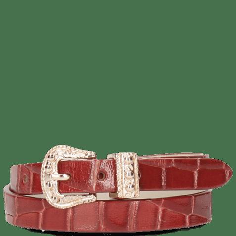 Bracelets Ines 1 Crock Red Buckle Rose Gold