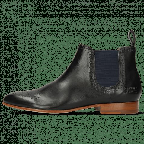 Ankle boots Sally 16 Imola Black Elastic Navy