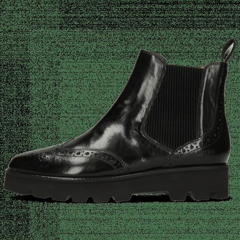 Ankle boots Selina 6 Black Elastic Ribbed Black